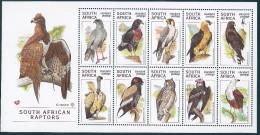 South Africa-1998 - South African Raptors - Blocchi & Foglietti