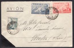 España 1940. Carta De Barcelona A Ohio. Censura. - Marcas De Censura Nacional