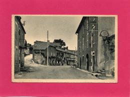 LATRONQUIERE, Rue Du Départ, Animée, Charrette, Hôtel, F. M., (Combier), 46 Lot - Latronquiere
