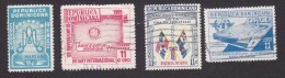 Dominican Republic, Scott #C88, C90-C91, C95, Used, Ano Mariano, Rotary, Flags, ICAO, Issued 1954-56 - Dominican Republic