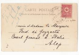 TURKEY - TARSUS -  CHUTE D'EAU - STAMP - POSTMARK MERSIN - 1901 - Turquie
