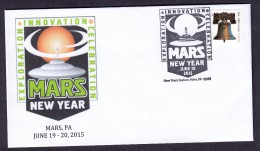 UNITED STATES OF AMERICA 2015. UFO MARS - Covers & Documents
