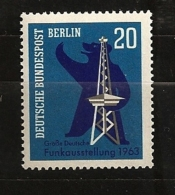 Allemagne Berlin 1963 N° 209 ** Son, Radio, Ours En Peluche, Teddy Bear, Radiodiffusion, Communication Téléphone Antenne - [5] Berlin