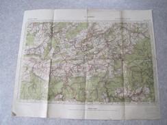 T17 / Carte Allemande WW2 Saint Hubert De 1941 - Guerre 40-45 Ardennes - Documents