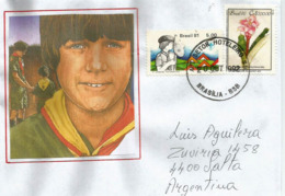 Jamboree Pan-Americano BRESIL 1981,  Sur Lettre Postée Brasilia Vers Argentine, En 1992 - Storia Postale