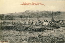 CARTE PROPAGANDE FRANÇAISE -  GUERRE 14-18 - LUNÉVILLE (M & M) - CIMETIÈRE MILITAIRE - CÔTEAU DE MÉHON A FRESCATI - Oorlog 1914-18