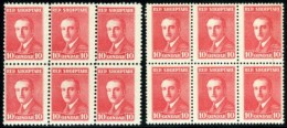 Albania. Scott #189. Michel #136A And 136B. Two Blocks Of 6. Mint, Never Hinged. - Albania