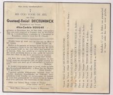 DP Gustaaf Emiel DECEUNINCK - Huyghe - Roeselare - Torhout - 1898 / 1946  - Illustratie Jos Speybrouck - Obituary Notices