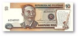 PHILIPPINES - 10 Piso ND ( 1995-97 ) Pick 181.b Unc. BLACK Serial # Sign. 14 Serie AC Seal Type 5 - Apolinario Mabini - Philippines