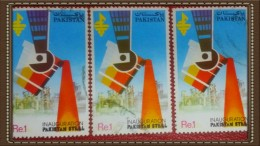 PAKISTAN USED STAMPS ( ROUND CANCELLATION) COLOR VAREITY
