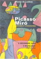 """Carte Postale """"Cart'Com"""" (2000) Exposition Picasso - Miro (Ubu Roi 1966) Gravures Et Lithographies - Musée De Lodève - Advertising"""