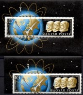 Raumfahrt 1962 Ungarn 1818+Block 33 ** 39€ Porträt Gagarin Titow Astronaut Glenn Bloque M/s Space Bloc Sheet Bf Hungaria - Space