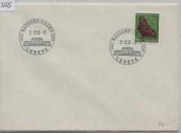 1955 Pro Juventute Tagpfauenauge J159 619 Stempel: Nations Unies Geneve 1945-1955 - Pro Juventute
