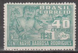 BRAZIL   SCOTT NO.  616   UNUSED HINGED     YEAR  1943 - Brazil