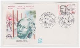 FRANCIA  1986, Louise Michel  Mi. 2540 Serie Cpl. 1v. Su Busta FDC - 1980-1989