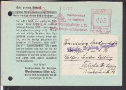 Deutsches Reich Freistempel  Berlin Reichverband Der Deutschen Werbungsmittler 1938 - Deutschland