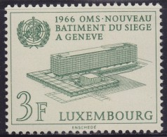 4860. Luxembourg 1966 World Health Organization New Headquarters Building, MNH (**) Michel 724 - Luxembourg