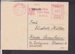 """Deutsches Reich Freistempel  Berlin """" Deutsches Rotes Kreuz Präsidium """" 1944 - Storia Postale"""