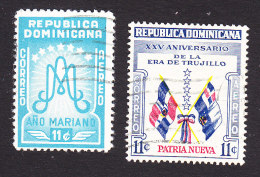 Dominican Republic, Scott #C88, C91, Used, Ano Mariano, Flags, Issued 1954-55 - Dominican Republic