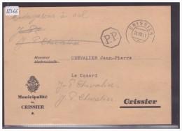 FORMAT 10x15 Cm - DISTRICT DE LAUSANNE - MUNICIPALITE DE CRISSIER - TB - VD Vaud