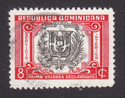 Dominican Republic, Scott #G13, Used, Arms, Insured Letter Issued 1952 - Dominican Republic