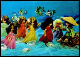 6333 - Alte Glückwunschkarte - Märchen - Die Meerjungfrauen - Königseer Puppen Puppe - TOP - DDR 1984 - Spielzeug & Spiele