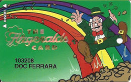 Fitzgerald´s Casino Las Vegas, NV - 4th Issue Slot Card - No Phone# - 11mm Mag Stripe - Casino Cards