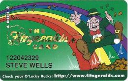 Fitzgerald´s Casino Reno, NV - 4th Issue Slot Card - No Mfg Mark - 11mm Wide Mag Stripe - Casino Cards