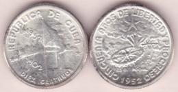 1952-MN-104 CUBA. 1952. DEMAJAGUA. 10c SILVER 2.5gr. XF PLUS. BRILLO ORIGINAL. - Cuba