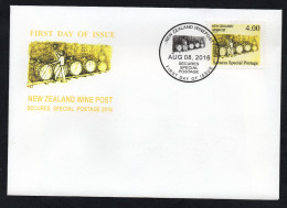 New Zealand Wine Post FDC Yellow Wine Barrels - New Zealand