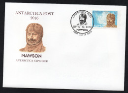 Antarctica Post Clean FDC Mawson. Dual FDC Issue Dates. - New Zealand