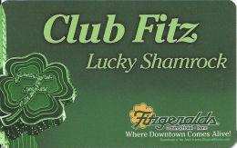 Fitzgerald´s Casino Reno, NV - Slot Card - Web Address On Back  (BLANK) - Casino Cards