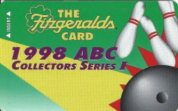 Fitzgerald´s Casino Reno, NV - Slot Card - 1998 ABC Collectors Series I  (BLANK) - Casino Cards