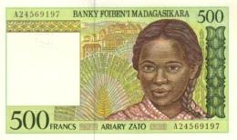 MADAGASCAR 500 FRANCS ND (1994) P-75a UNC SIGN. R. RAVELOMANANA [ MG311a ] - Madagascar