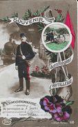 Souvenir Du Régiment D'Artillerie - Permissionnaire, Arriverai à La Gare De... - Carte Idéa, Pré-écrite - Patriottisch