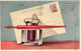 [DC9658] CPA - NON AVENDO RICEVUTO NOTIZIE MANDO CARTOLINA, PENNA, CALAMAIO E INCHIOSTRO - Viaggiata 1939 - Old Postcard - Humor