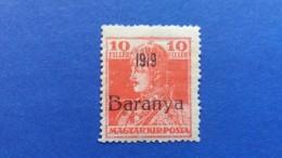 HUNGARY 1919 MAGYAR KIR POST OVERPRINT BARANYA 1919 PROVISIONAL KING CHARLES VI MINT NEVER HINGED - Baranya