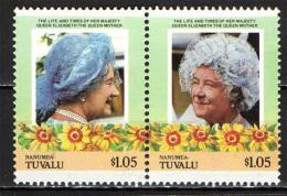 TUVALU - 1985 - 85° ANNIVERSARIO DELLA REGINA MADRE - NUOVI MNH - Tuvalu