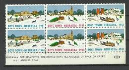 USA Charity 1961 Boys Town Nebraska Christmas MNH - Kerstmis