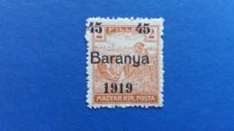 HUNGARY 1919 OVERPRINT IN BLACK BARANYA 1919 PROVISIONAL  MINT NEVER HINGED - Baranya