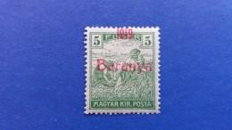 HUNGARY 1919 OVERPRINT IN RED BARANYA 1919 PROVISIONAL  MINT HINGED - Baranya
