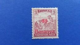 HUNGARY 1919 OVERPRINT IN RED BARANYA SIGNED FROM BEHIND 1919 PROVISIONAL  MINT HINGED - Baranya