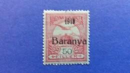 HUNGARY 1919 OVERPRINT IN BLACK BARANYA SIGNED FROM BEHIND 1919 PROVISIONAL MINT HINGED - Baranya