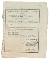 Cedola Di Credito 1806 Periodo Napoleonico 25 Ducati ( Lotto 1391 ) - Ohne Zuordnung