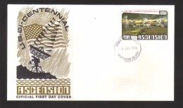 7156- Ascension , USA Bicentennial 4th July 1976 FDC - Great Britain (former Colonies & Protectorates)