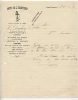 Facture - BAZAR DE L´INCROYABLE - E. DARBON - SAINT-NAZAIRE Vers  Chateaubriant - France
