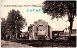 61 LA FERRIERE-aux-ETANGS - Société Des Mines De Denain Et Anzin - La Salle Des Fêtes  (Recto/Verso) - Autres Communes