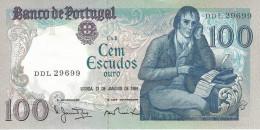 PORTUGAL 100 ESCUDOS 31.1.1984 P-178c UNC SIGN. M. NUNES & A. PINTO DOS REIS [ PT178c3 ] - Portugal