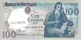 PORTUGAL 100 ESCUDOS 12.3.1985 P-178d UNC SIGN: V. CONSTÂNCIO & A. RAMALHEIRA [ PT178d5 ] - Portugal