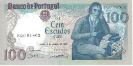 PORTUGAL 100 ESCUDOS 4.6.1985 P-178e UNC SIGN: V. CONSTÂNCIO & A. PINTO DOS REIS [ PT178e5 ] - Portugal